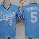 #5 George Brett Jersey Blue Throwback Kansas City Royals Jerseys Style 2