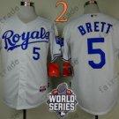 #5 George Brett Jersey White Throwback Kansas City Royals Jerseys Style 1