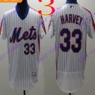 2016 Flexbase Stitched New York Mets 33 Harvey White Throwback Jersey Style 2