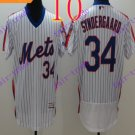 2016 Flexbase Stitched New York Mets 34 Syndergaard White Throwback Jersey Style 2