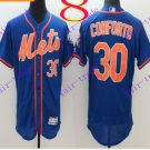 2016 Flexbase Stitched New York Mets 30 Conforto Blue Throwback Jersey Style 1