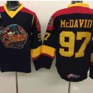 Erie Otters 97 Connor McDavid College Jerseys Edmonton Throwback  Ice Hockey Jerseys Men Black