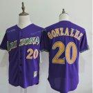 Arizona Diamondbacks #20 Luis Gonzalez Purple Throwback Retro Stitched Jersey