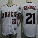 Arizona Diamondbacks #21 Zack Greinke White Throwback Retro Stitched Jersey