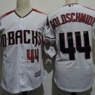 Arizona Diamondbacks #44 Paul Goldschmidt White Throwback Retro Stitched Jersey