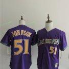 Arizona Diamondbacks #51 Randy Johnson Purple Throwback Retro Stitched Jersey