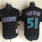 Arizona Diamondbacks #51 Randy Johnson Black Throwback Retro Stitched Jersey