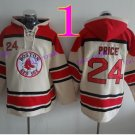 Boston Red Sox #24 David Price Baseball Hooded Stitched Old Time Hoodies Sweatshirt Jerseys