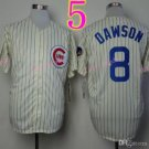 #8 Andre Dawson Jersey Vintage White Montreal Expos Chicago Cubs Jerseys Style 3