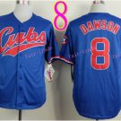 #8 Andre Dawson Jersey Vintage Blue Montreal Expos Chicago Cubs Jerseys Style 3