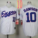 #10 Andre Dawson Jersey Vintage White Montreal Expos Chicago Cubs Jerseys Style 2