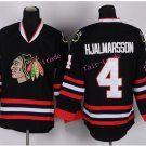 2016 Jersey Stadium Series Chicago Blackhawks #4 Niklas Hjalmarsson Jerseys Black