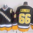#66 mario lemieux Throwback Vintage Jersey Black ICE Hockey Jerseys Heritage Stitched Style 3