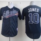 atlanta braves #10 chipper jones 2015 Baseball Jersey Blue Rugby Jerseys Authentic Stitched