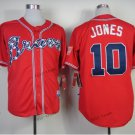 atlanta braves #10 chipper jones 2015 Baseball Jersey Red Rugby Jerseys Authentic Stitched