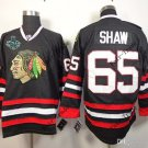 New #65 andrew shaw Blackhawks Black Ice Hockey Jerseys 2015 Final Stanley Cup Patch Accept