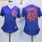women toronto blue jays #49 Jake Arrieta 2015 Baseball Jersey Rugby Jerseys Authentic Stitched