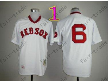 Boston Red Sox Jersey 6 Rico Petrocelli White Shirt Throwback Baseball Jersey