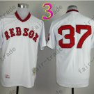 Boston Red Sox Jersey 37 Bill Lee WHite Shirt Throwback Baseball Jersey