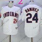 24 Manny Ramirez White Indians Jersey 1978 Vintage