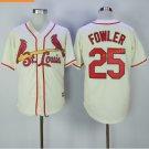 st. louis cardinals #25 dexter fowler Cream 2017 Baseball Jerseys
