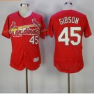 st. louis cardinals #45 bob gibson Red 2017 Baseball Jerseys