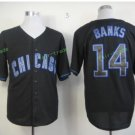 Chicago Cubs #14 Ernie Banks Away Baseball Jersey Blue Throwback Base Stitched Jerseys Style 2