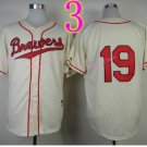 Robin Yount Jersey 1982 Retro White Milwaukee Brewers Jerseys Throwback Style 4