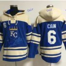 Kansas City Royals #6 Lorenzo Cain Baseball Hooded Stitched Old Time Hoodies Sweatshirt Jerseys