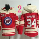 Washington Nationals Jersey 34 Bryce Harper Pullover Hoodies Sweatshirt