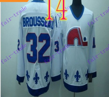 Cord NHL Quebec Nordique 32 BROUSSEAU White Hockey Jersey Stitched