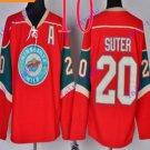 Stitched Minnesota Wild Blank 20 Suter  Red Hockey Jersey Ice