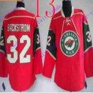 Stitched Minnesota Wild Blank 32 Backstrom Red Hockey Jersey Ice