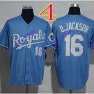 kansas city royals #16 bo jackson 2016 Baseball Jersey Blue Rugby Jerseys Authentic Stitched