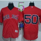 50 Mookie Betts Jersey Flexbase Boston Red Sox  Baseball Jerseys Cool Base Red Style 1