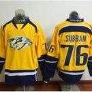 2016 Latest Nashville Predators Ice Hockey Jerseys Yellow 76 P.K Subban Jersey Fashion All Stitched
