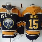 Buffalo Sabres #15 Jack Eichel black Hockey Hooded Stitched Old Time Hoodies Sweatshirt Jerseys