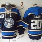 Buffalo Sabres #20 brandon saad Green Hockey Hooded Stitched Old Time Hoodies Sweatshirt Jerseys