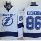 #86 Nikita Kucherov Jersey Tampa Bay Lightning Hockey White Hockey Jersey Ice Hockey Jersey