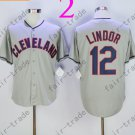 Cleveland Indians #12 Francisco Lindor Gray 2015 Baseball Jersey Authentic Stitched