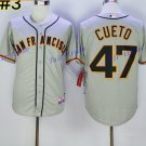 San Francisco Giants 47 Johnny Cueto Jersey Vintage Baseball Jerseys Cooperstown Gray