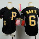 Pittsburgh Pirates Youth Jersey 6 Starling Marte Black Kid Jersey