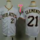 Pittsburgh Pirates Youth Jersey 21 Roberto Clemente White  Kid Jersey