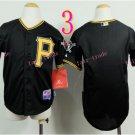 Pittsburgh Pirates Youth Jersey  Black  Kid Jersey