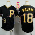Pittsburgh Pirates Youth Jersey 18 Walker Black Kid Jersey