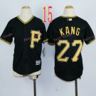 Pittsburgh Pirates Youth Jersey #27 Jung-ho Kang Black Kid Jersey