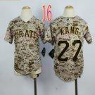 Pittsburgh Pirates Youth Jersey #27 Jung-ho Kang Camo Kid Jersey