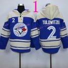 Toronto Blue Jays Hoodie #2 TULOWITZKI Blue Stitched Pullover Hoodie Sweatshirt