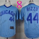 Chicago Cubs Jersey 44 Anthony Rizzo  Blue Strips 1988 Baseball Jersey