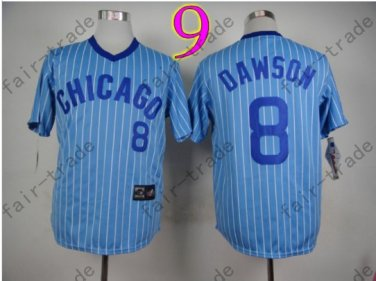 Chicago Cubs Jersey Andre Dawson #8  Blue Strips 1988 Baseball Jersey